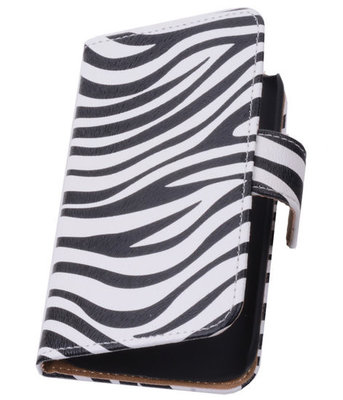 Zebra Hoesje voor Samsung Galaxy Core LTE Book/Wallet Case/Cover
