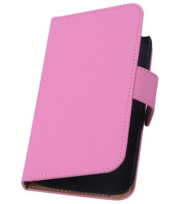 Hoesje voor Huawei Ascend G6 Effen Booktype Wallet Roze