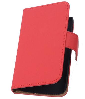 Hoesje voor Huawei Ascend G6 Effen Booktype Wallet Rood