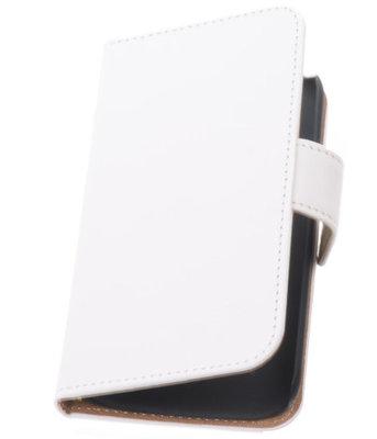 Hoesje voor Huawei Ascend G6 Effen Booktype Wallet Wit