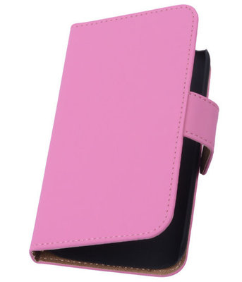 Roze Hoesje voor Samsung Galaxy S4 Mini s Book/Wallet Case/Cover