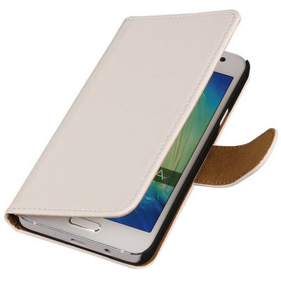 Wit Hoesje voor Motorola Nexus 6 Book Wallet Case