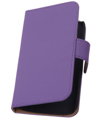 Paars Samsung Galaxy Fresh / Trend Lite Book Wallet Case Hoesje