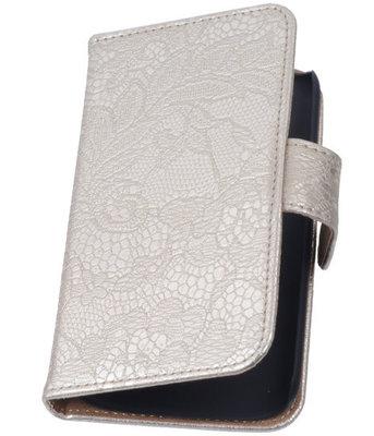 Lace Goud Hoesje voor Samsung Galaxy Core 4G/LTE G386F Book/Wallet Case