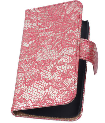 Lace Rood Hoesje voor Samsung Galaxy Core 4G/LTE G386F Book/Wallet Case