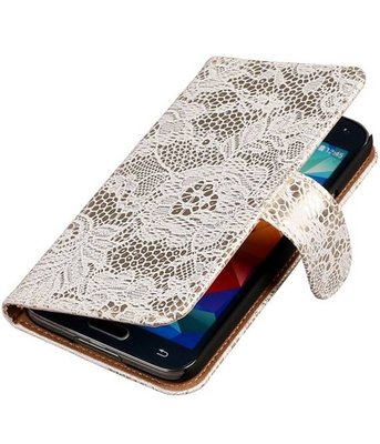 Lace Wit Samsung Galaxy S5 (Plus) Book/Wallet Case Hoesje