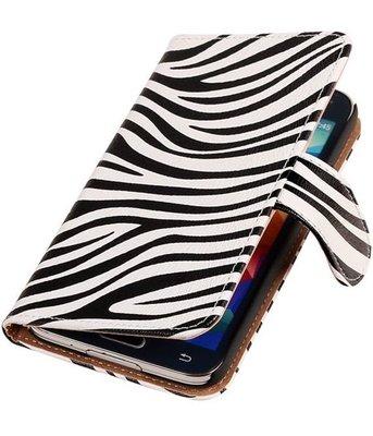 Zebra Hoesje voor Samsung Galaxy S5 (Plus) Book Wallet Case