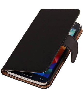 Zwart Hoesje voor Samsung Galaxy S5 (Plus) Book Wallet Case