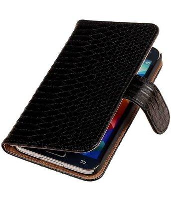 Zwart Slang Samsung Galaxy S5 (Plus) Book/Wallet Case/Cover