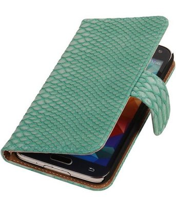 Turquoise Slang Samsung Galaxy S5 (Plus) Book/Wallet Case
