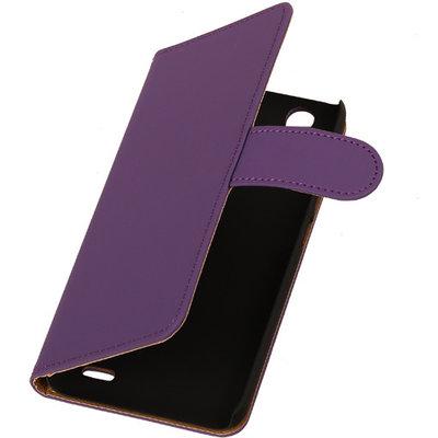 Hoesje voor Huawei Ascend G630 Effen Booktype Wallet Paars