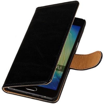 PU Leder Zwart Hoesje voor Samsung Galaxy S Duos 3 Book/Wallet Case