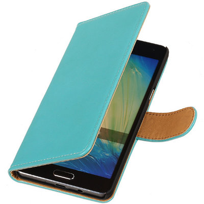 PU Leder Turquoise Hoesje voor Samsung Galaxy S Duos 3 Book/Wallet Case