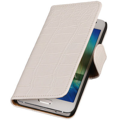 Croco Wit Honor 3c Book/Wallet Case/Cover