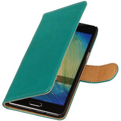PU Leder Groen Hoesje voor Samsung Galaxy S Duos 3 Book/Wallet Case