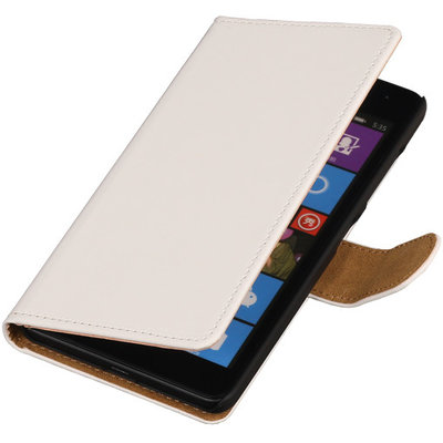 Wit Hoesje voor Huawei Ascend Y520 Book/Wallet Case/Cover