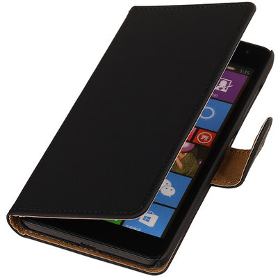 Zwart Hoesje voor Huawei Ascend Y520 Book/Wallet Case/Cover