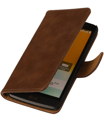 Hout Bruin Honor 3c Book Wallet Case