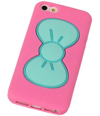Vlinder Telefoonstandaard Case TPU iPhone 5/5S Roze