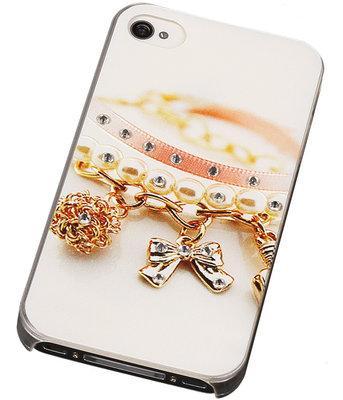 3D Hardcase met Diamant iPhone 4/4S Armband