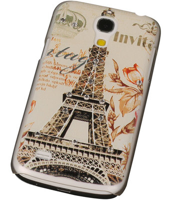 3D Hardcase met Diamant Galaxy S4 Mini I9190 Parijs