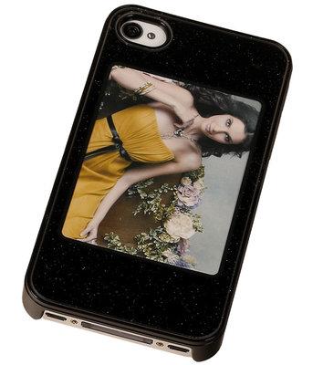 Fotolijst Backcover Hardcase iPhone 4/4S Zwart