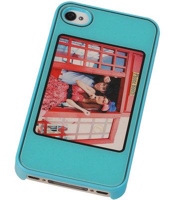 Fotolijst Backcover Hardcase iPhone 4/4S Blauw