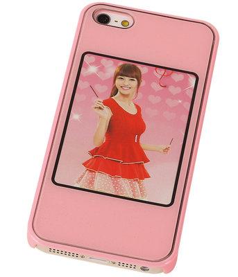 Fotolijst Backcover Hardcase iPhone 5/5S Roze