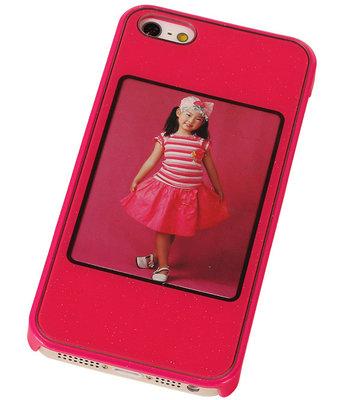Fotolijst Backcover Hardcase iPhone 5/5S Fuchsia