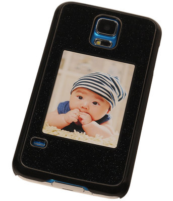 Fotolijst Backcover Hardcase Galaxy S5 Zwart