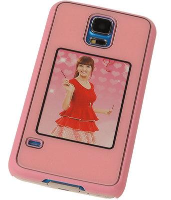 Fotolijst Backcover Hardcase Galaxy S5 Roze