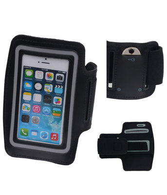 iPhone 5/5S Zwart Sport Armband Neopreen