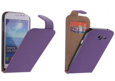 Paars Effen Classic Flipcase Hoesje voor Samsung Galaxy Grand Neo I9060