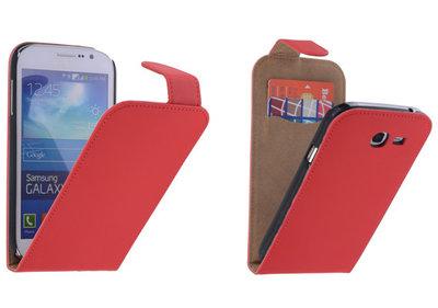 Rood Effen Classic Flipcase Hoesje voor Samsung Galaxy Grand Neo I9060