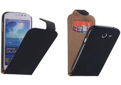 Zwart Effen Classic Flipcase Hoesje voor Samsung Galaxy Grand Neo I9060