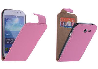 Roze Effen Classic Flipcase Hoesje voor Samsung Galaxy Grand Neo I9060