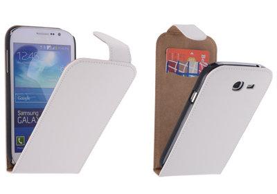 Wit Effen Classic Flipcase Hoesje voor Samsung Galaxy Grand Neo I9060