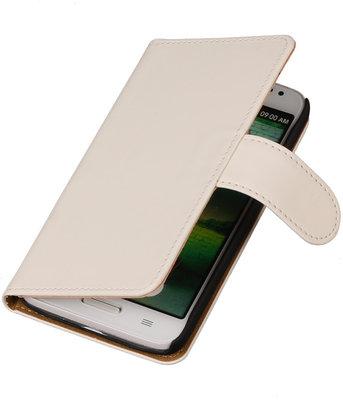 Hoesje voor LG G2 Mini Effen Booktype Wallet Wit