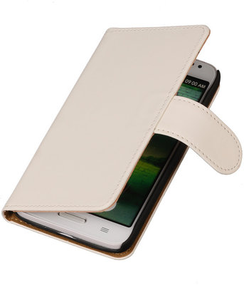 Hoesje voor Motorola Moto G (2nd gen) Effen Booktype Wallet Wit