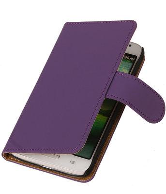 Hoesje voor Samsung Galaxy S Advance I9070 Effen Booktype Wallet Paars