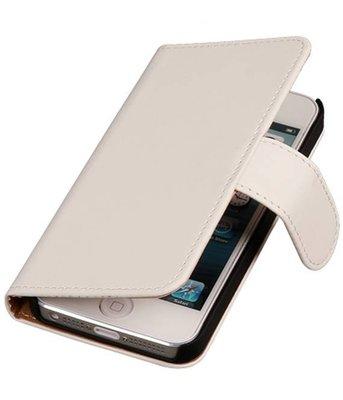 Wit Hoesje voor Apple iPhone 4 4s Book Wallet Case