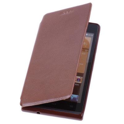 Bruin HTC Desire 500 TPU Bookcover Hoesje