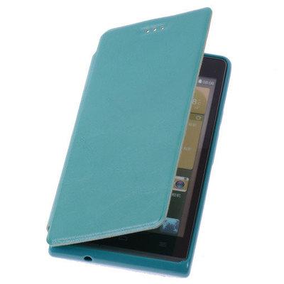 Groen HTC Desire 500 TPU Bookcover Hoesje