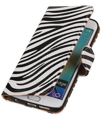 Hoesje voor Samsung Galaxy S6 Edge Zebra Booktype Wallet