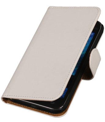 Samsung Galaxy J1 2015 Effen Booktype Wallet Hoesje Wit