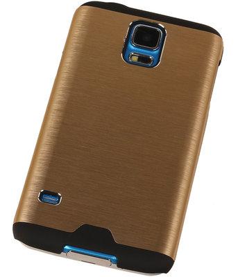 Lichte Aluminium Hardcase Hoesje voor Samsung Galaxy S4 Goud