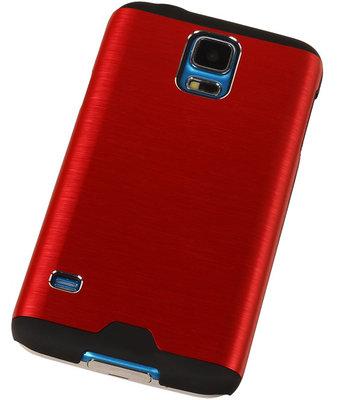 Lichte Aluminium Hardcase Hoesje voor Samsung Galaxy V Rood
