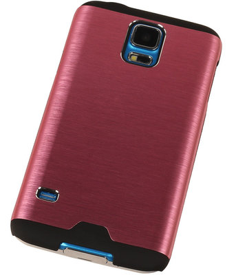 Lichte Aluminium Hardcase Hoesje voor Samsung Galaxy V Roze