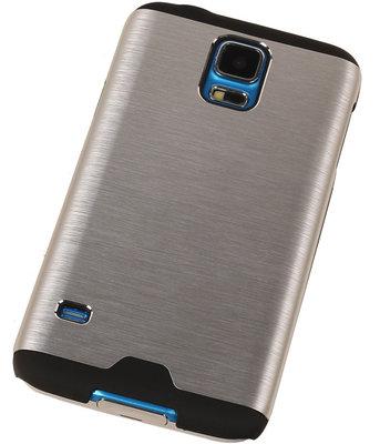 Lichte Aluminium Hardcase Hoesje voor Samsung Galaxy V Zilver