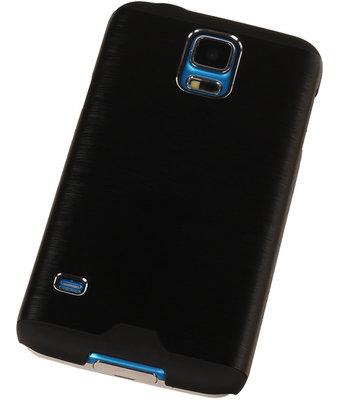 Lichte Aluminium Hardcase Hoesje voor Samsung Galaxy V Zwart